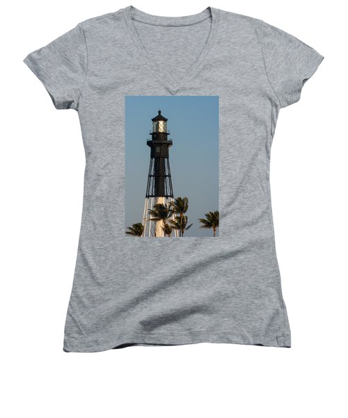 Hillsboro Inlet Lighthouse In The Evening Women's V-Neck