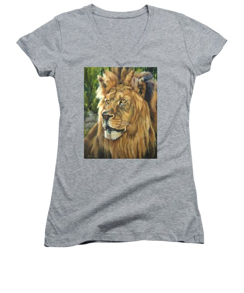 Him - Lion Women's V-Neck T-Shirt