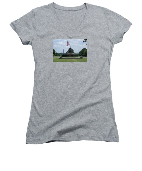 Iwo Jima Women's V-Neck (Athletic Fit)