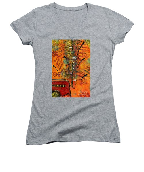 His Vase Women's V-Neck T-Shirt (Junior Cut) by Angela L Walker