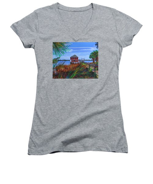 Historic Ormond Boathouse Women's V-Neck