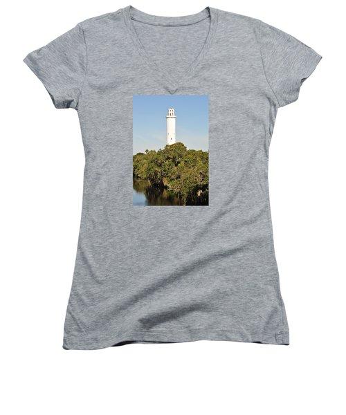 Historic Water Tower - Sulphur Springs Florida Women's V-Neck T-Shirt