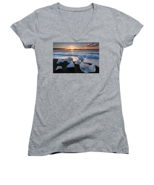 Hitching A Ride Women's V-Neck