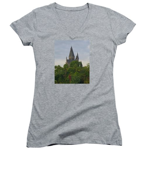 Hogwarts Castle 1 Women's V-Neck T-Shirt