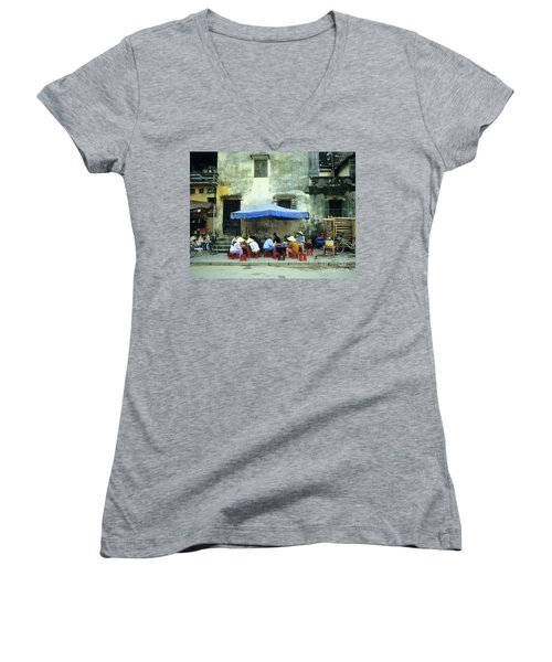 Hoi An Noodle Stall 02 Women's V-Neck (Athletic Fit)