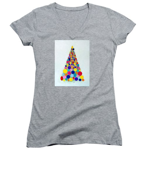 Holiday Tree #1 Women's V-Neck T-Shirt
