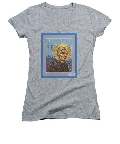 Holy Prophet Dorothy Day 154 Women's V-Neck