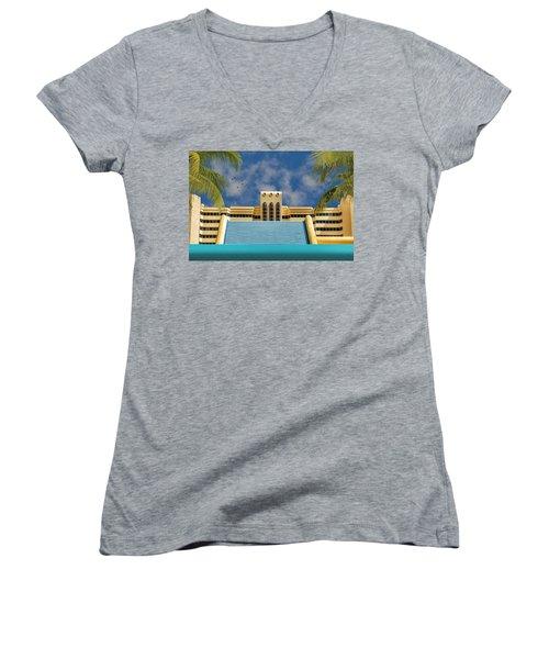 Home For The Winter Women's V-Neck T-Shirt