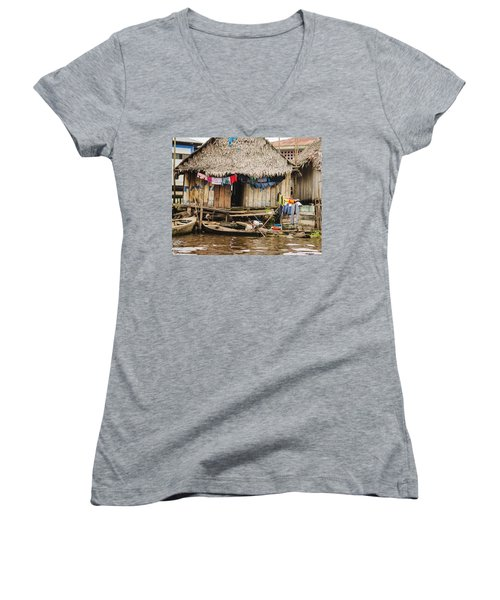 Home In Shanty Town Women's V-Neck (Athletic Fit)