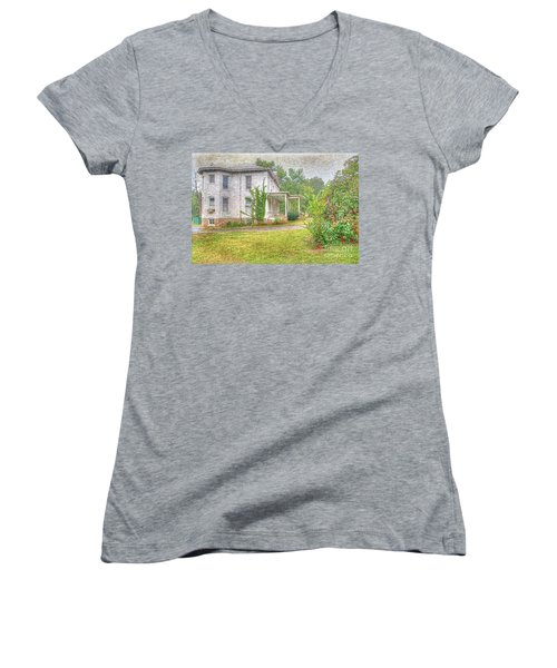 Home Is Where The Heart Is Women's V-Neck T-Shirt (Junior Cut) by Liane Wright