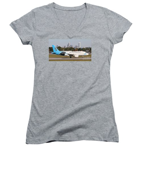 Home Of The Panthers Women's V-Neck