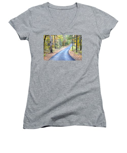 Home Sweet Home 2 Women's V-Neck T-Shirt (Junior Cut) by Charlie and Norma Brock