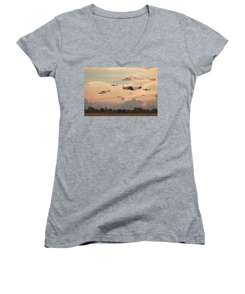 Home To Roost Women's V-Neck T-Shirt