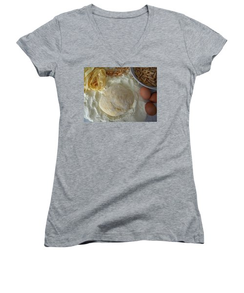 Homemade Pasta Women's V-Neck T-Shirt (Junior Cut)