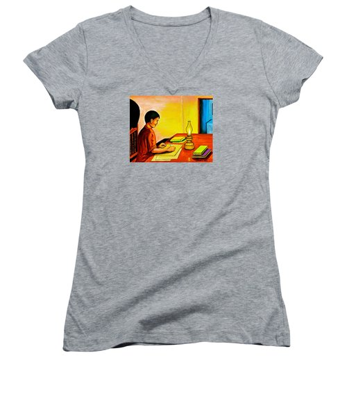 Homework Women's V-Neck T-Shirt