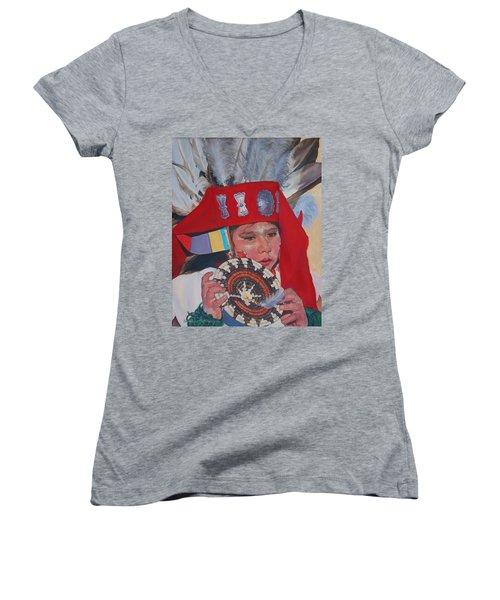 Hopi Basket Dancer Women's V-Neck T-Shirt