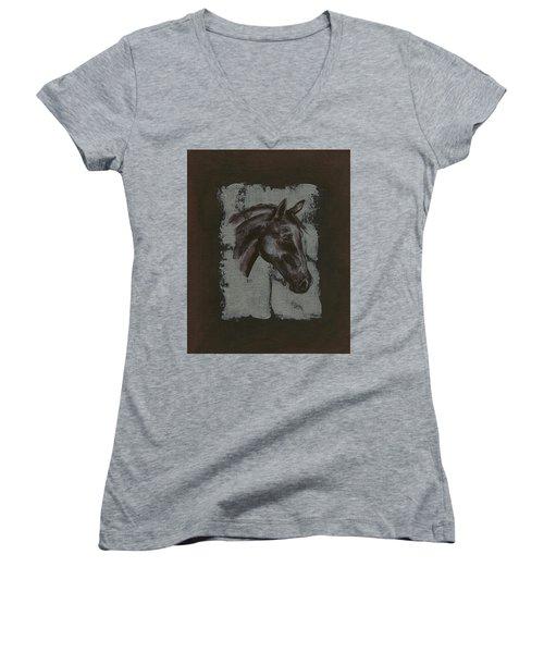 Horse Portrait Women's V-Neck