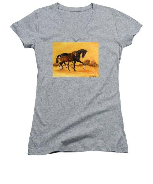 Horse - Together 2 Women's V-Neck