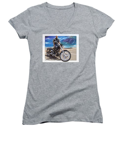 Horses Of Iron10 Women's V-Neck T-Shirt (Junior Cut)