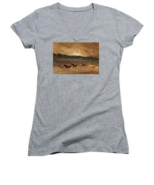 Horses Of Stone Women's V-Neck T-Shirt
