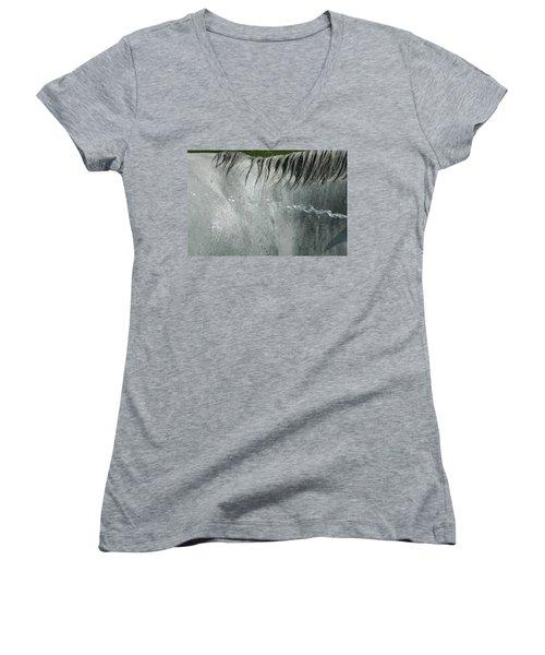 Cooling Down White Horse Women's V-Neck T-Shirt