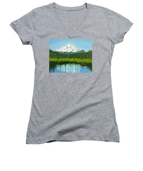 Hosmer Lake Women's V-Neck T-Shirt