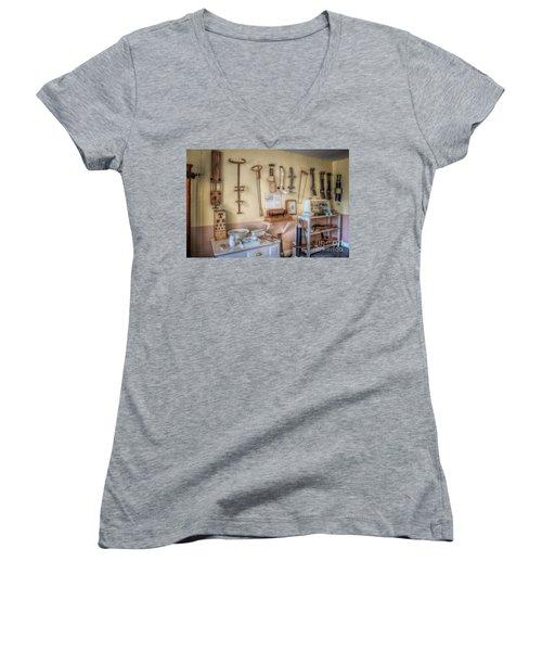 Hospital Museum Women's V-Neck T-Shirt (Junior Cut) by Adrian Evans