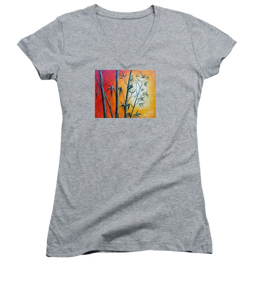 Hot Bamboo Days Women's V-Neck