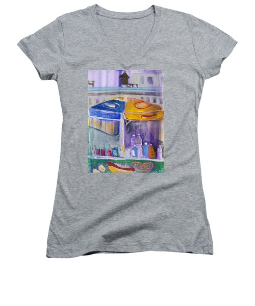 Hot Dogs  Women's V-Neck T-Shirt