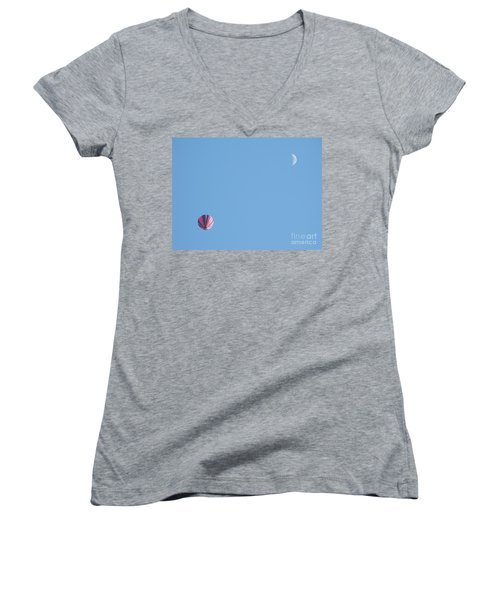 Hot Moon Women's V-Neck T-Shirt