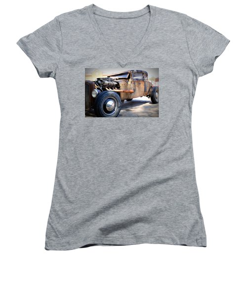Hot Rod Women's V-Neck T-Shirt (Junior Cut) by Lynn Sprowl