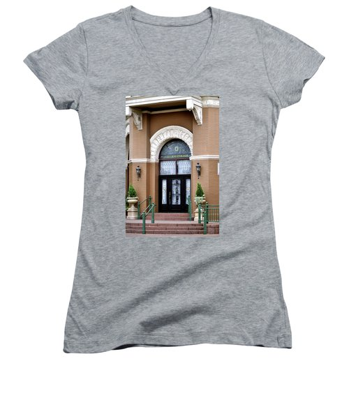 Hotel Door Entrance Women's V-Neck (Athletic Fit)