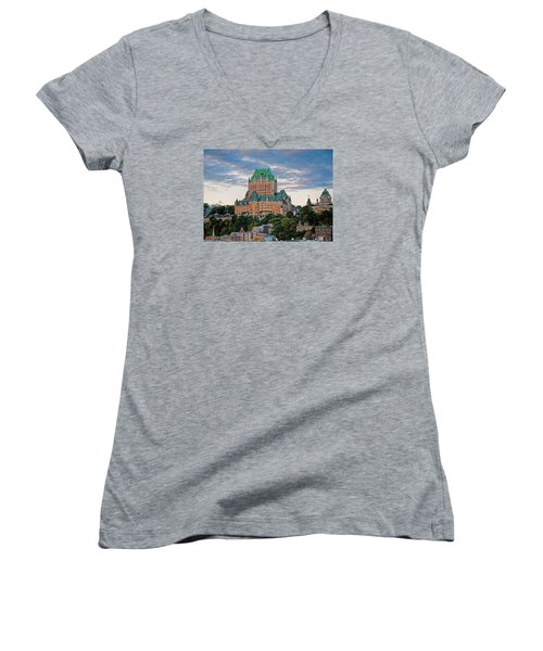 Fairmont Le Chateau Frontenac  Women's V-Neck T-Shirt