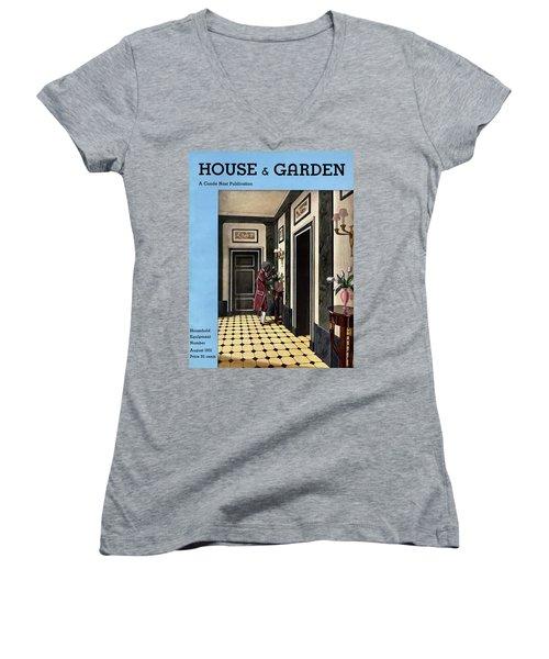 House And Garden Household Equipment Number Women's V-Neck