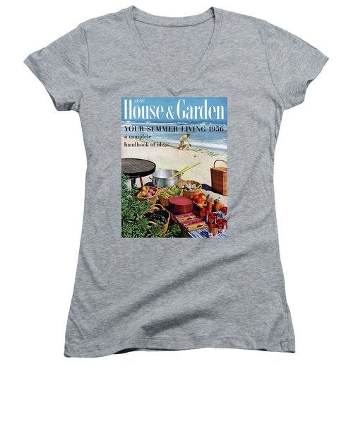 House And Garden Ideas For Summer Issue Cover Women's V-Neck