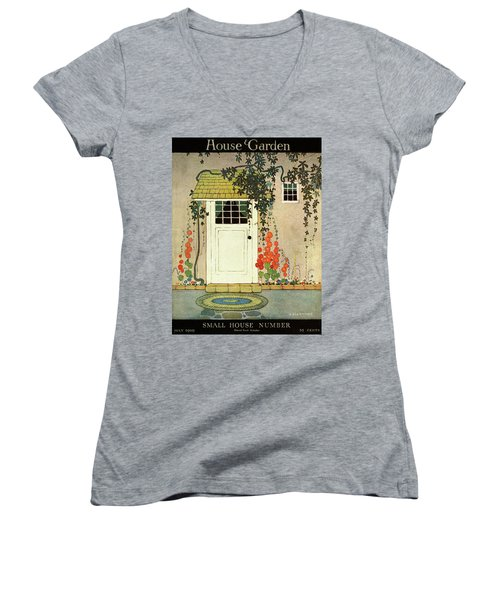 House And Garden Small House Number Cover Women's V-Neck