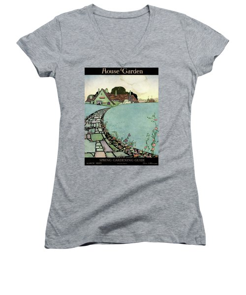 House And Garden Spring Garden Guide Women's V-Neck