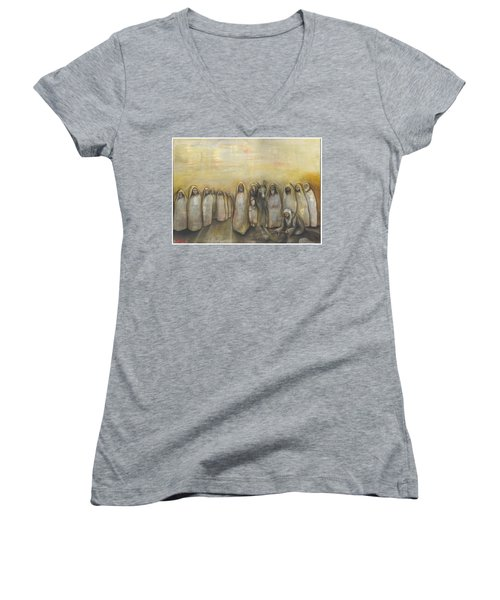 'humble Procession Of The King' Women's V-Neck (Athletic Fit)