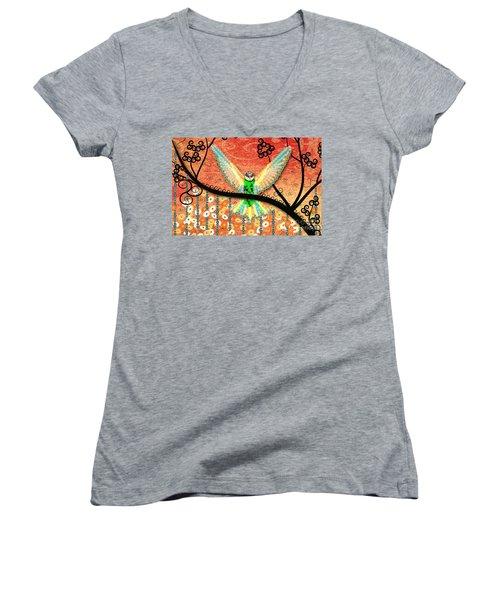 Hummer Love Women's V-Neck T-Shirt (Junior Cut) by Kim Prowse