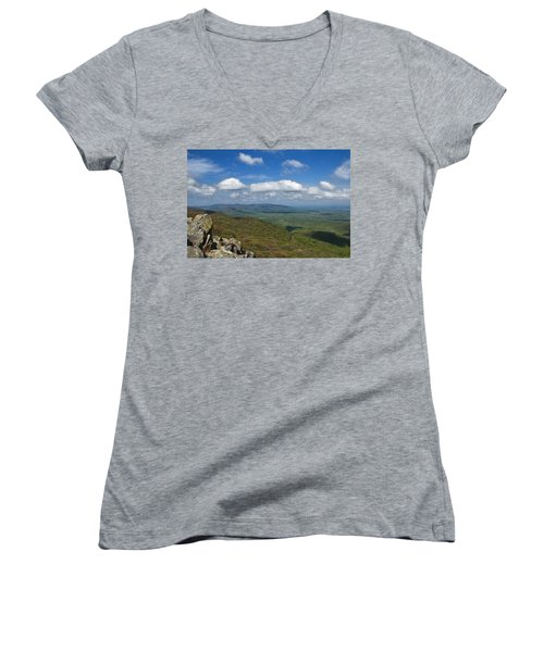 Humpback Rocks View South Women's V-Neck (Athletic Fit)