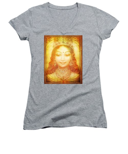 I Am That Women's V-Neck T-Shirt (Junior Cut) by Ananda Vdovic
