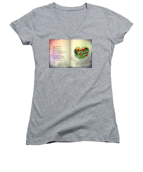 I Carry Your Heart With Me  Women's V-Neck