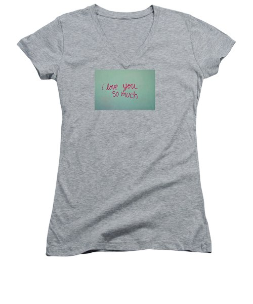 I Love You So Much Women's V-Neck (Athletic Fit)