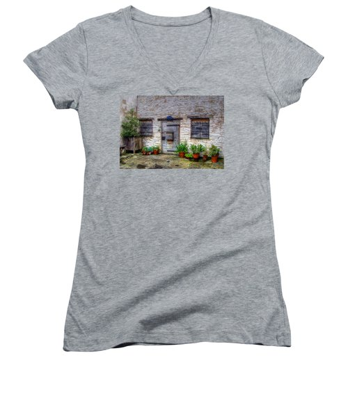 Women's V-Neck T-Shirt (Junior Cut) featuring the photograph I Miss Home by Doc Braham