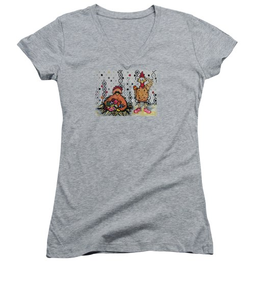 I Think I Am In Trouble Women's V-Neck T-Shirt (Junior Cut) by Chrisann Ellis
