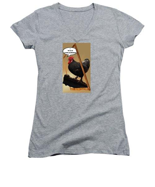 I Was Framed Women's V-Neck T-Shirt