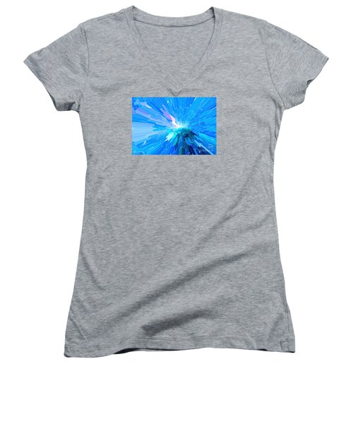 Women's V-Neck T-Shirt (Junior Cut) featuring the photograph Ice Queen by Mariarosa Rockefeller