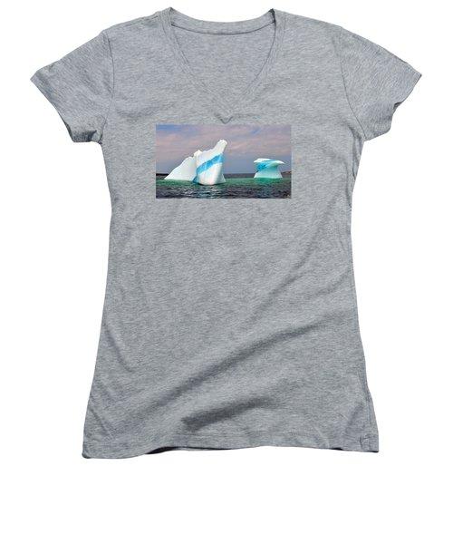 Iceberg Off The Coast Of Newfoundland Women's V-Neck (Athletic Fit)