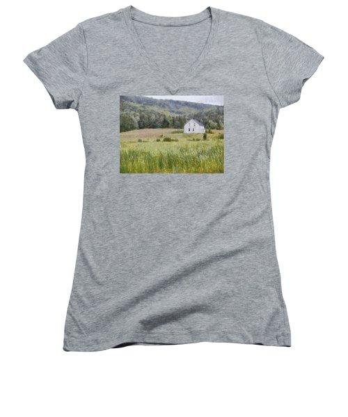 Idyllic Isolation Women's V-Neck T-Shirt