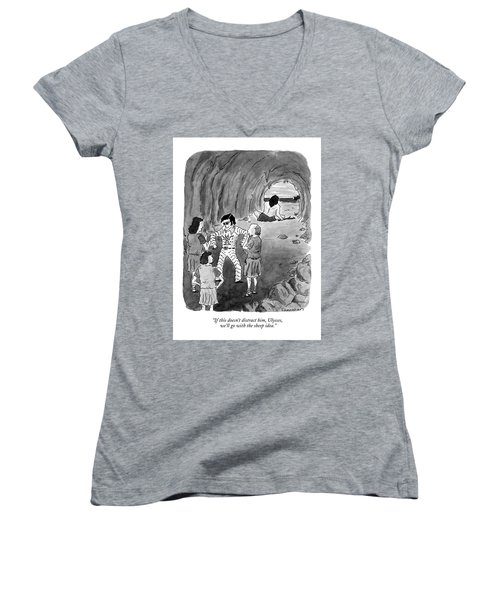 If This Doesn't Distract Women's V-Neck T-Shirt (Junior Cut) by Danny Shanahan